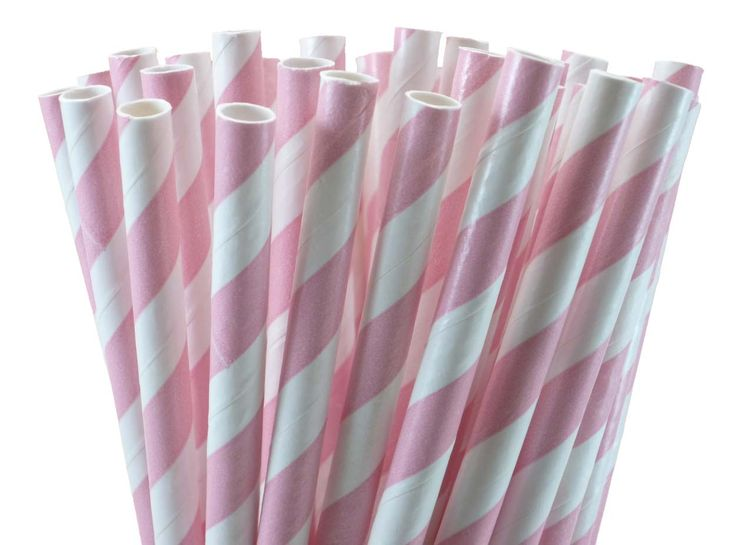 Light Pink Paper Straws (250) on Ethical Ocean ($37.00) The world needs to invest in these