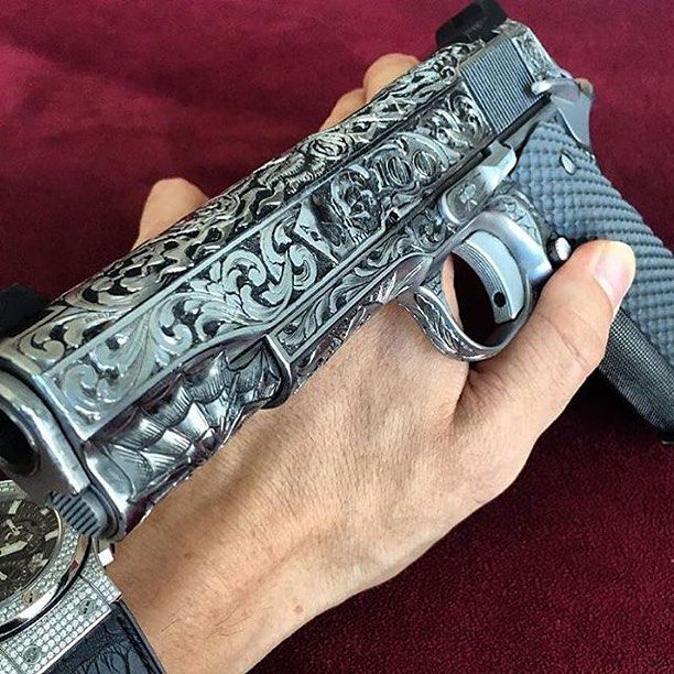 @danbilzerian is ballin with this custom 1911!
