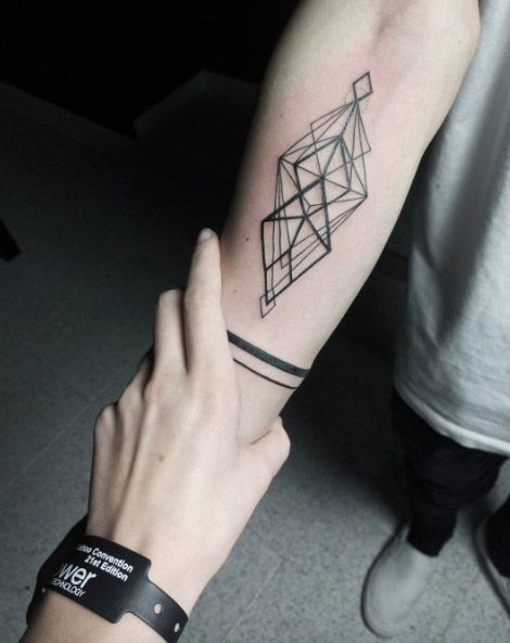 Geometric Diamond Tattoo by Dasha Sumkina