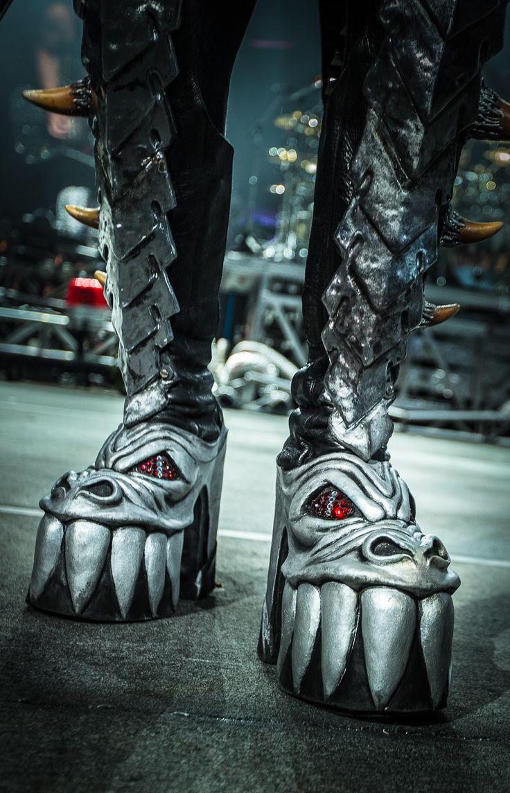 KISS boots. Gene Simmons of KISS. ©2014 Steve Ziegelmeyer Ziegelmeyer Photography