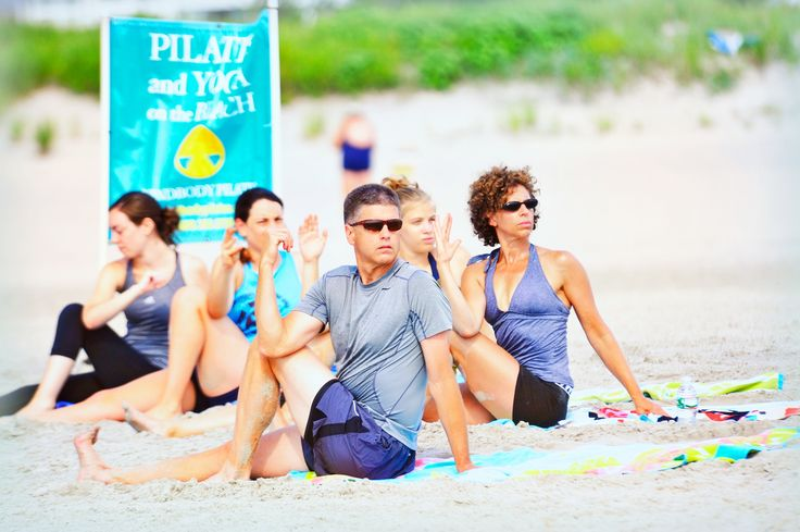 Our beaches are great for yoga and pilates too! Cape May Point, Ocean City, Jersey Cape, Cape May County, New Jersey