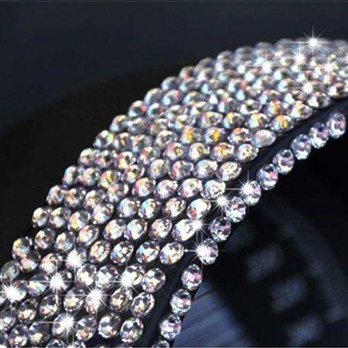 3mm Bling Crystal Rhinestone DIY Car Styling Sticker Decor Decal Accessories