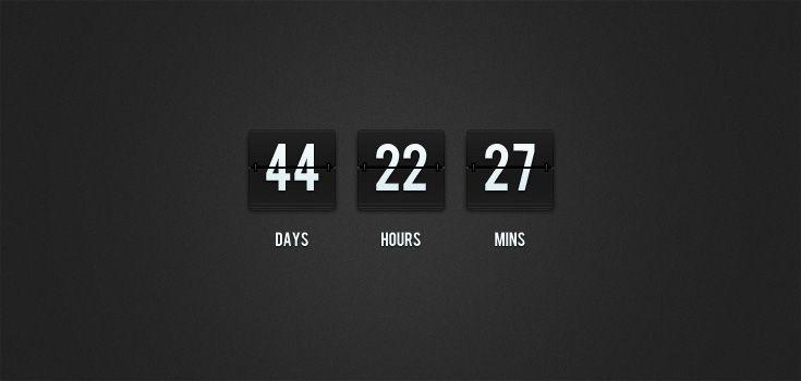 Free PSD: Flip-Clock Countdown | Premium Pixels