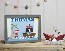 Pink Puffin Crafts | Framed Collection | Pirate  | £22.50 | www.pinkpuffincrafts.co.uk