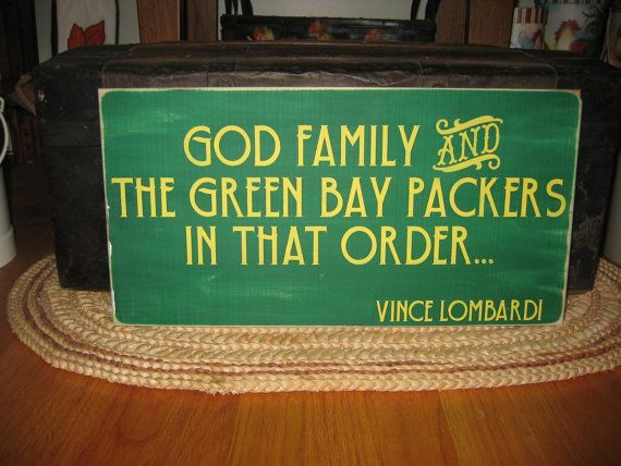 God Family and The Green Bay Packers Vince by CottageSignShoppe