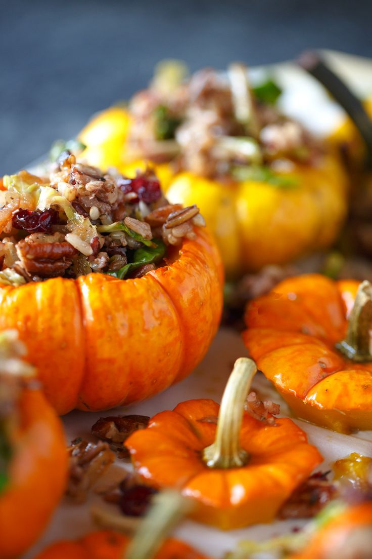 Savory Stuffed Mini Pumpkins - Pumpkins as cooking vessels are one of the simplest and unadulterated pleasures of the season