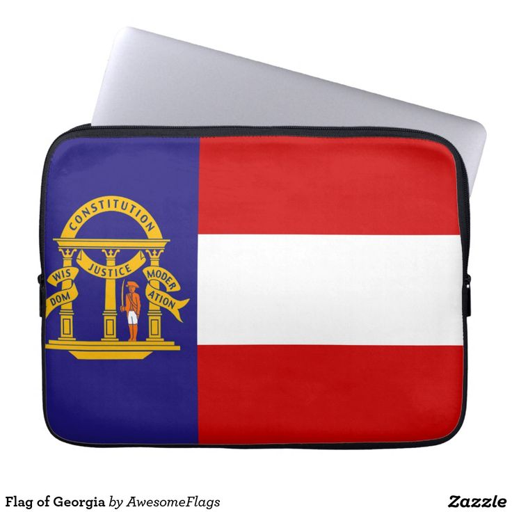 Flag of Georgia Laptop Sleeve