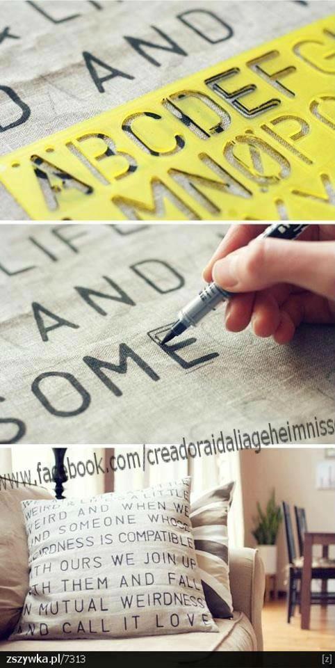 Decora tu almohada con letras