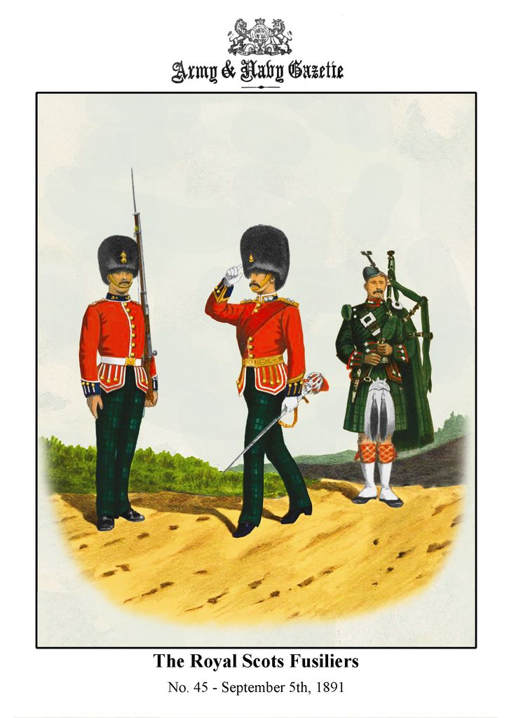 The Royal Scots Fusiliers, C.1890 by R.Simkin