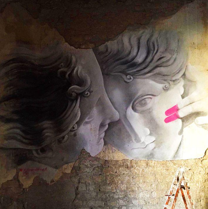 Street Art...by Ruben Carrasco, Naples, Italy.