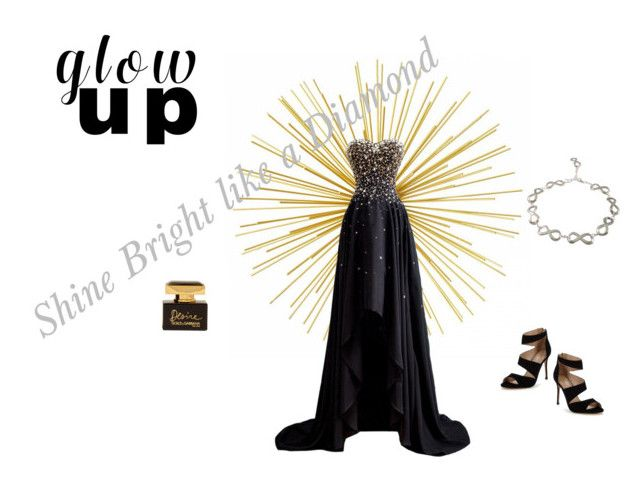 """""""Glow Up"""" by loluso-designs on Polyvore featuring Dolce&Gabbana, Carvela, GetTheLook, jewellery and fashionset"""