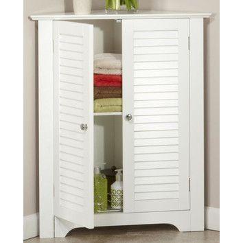 "RiverRidge Home Products Ellsworth 25.5"" x 31.25"" Corner Free Standing Cabinet & Reviews   Wayfair"
