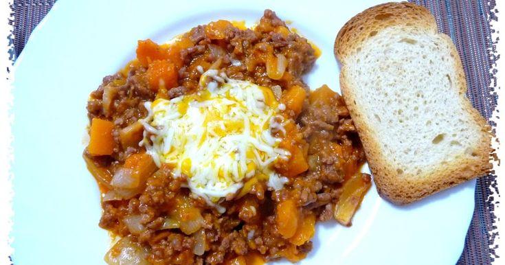 Ternera picada con calabaza y queso gratinado (pendiente)   Cals: 276kcal | Grasa: 9,69g | Carbh: 15,37g | Prot: 32,62g    Con esta recet...
