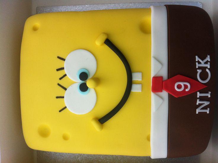Spongebob taart www.cakesfromjessica.nl