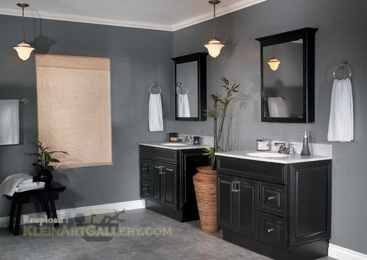 captivating what color paint grey tiles bathroom | Bathroom Color Ideas With Dark Cabinets | Bathroom in 2019 ...