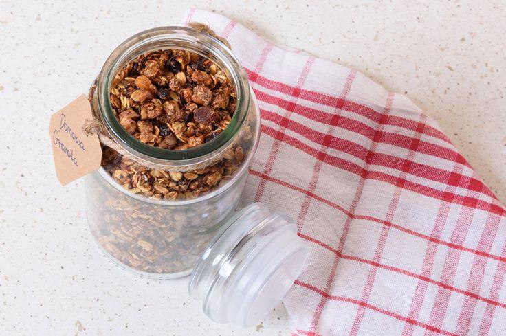 Domowa granola #granola #płatki #zbożowe #śniadanie #cereal #flakes #breakfast