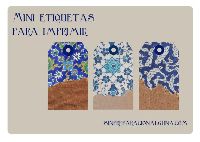 Etiquetas imprimible con mosaicos de Estambul