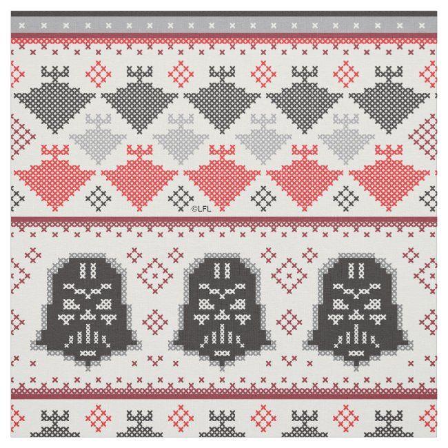 Destroyer Christmas 2020 Darth Vader & Star Destroyer Cross Stitch Pattern Fabric in 2020