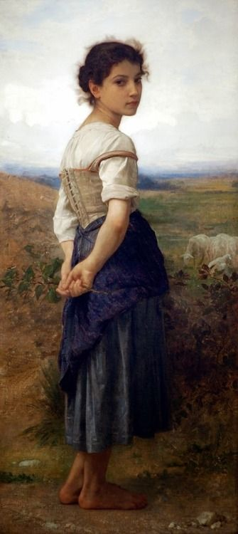 If this lass just had blue eyes, she'd make a great nine-year-old Anna: the year the Beast first appeared near her home. Original painting by William-Adolphe Bouguereau (1825-1905)