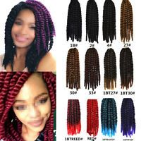 12 African Havana Mambo Twist Crochet Braided Bundle Synthetic Hair ...