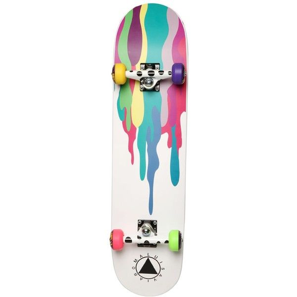 LIMIT.EDITION BY ERNESTO ESPOSITO Skateboard By Ernesto Esposito - White/Multi featuring polyvore mens skateboards accessories boards fillers misc