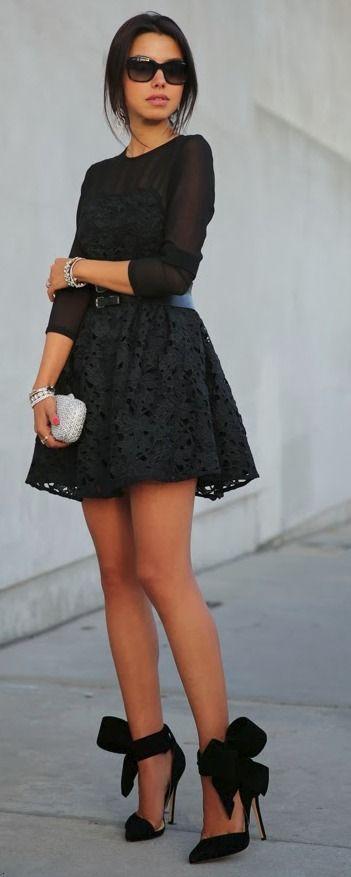 little #black lace and shooooooeeeeesss ↠{ @pinkmintkay }↞ :Pinterest <3 | ☽☼☾ love life ☽☼☾