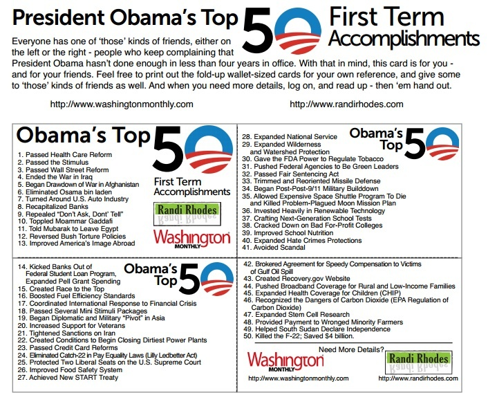 Obama - Top 50 Business Card Fold