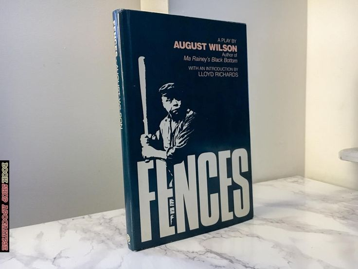 Fences : A Play by August Wilson (1986 Book Club Edition) http://etsy.me/2Er0qwx #booksandzines #fences #augustwilson #vintagebook #hardcover #hc #firstedition #1stedition #firstprinting