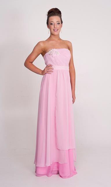 Gabriella: Shades of soft pink. Bridesmaid dress or ball dress from Perth designer.