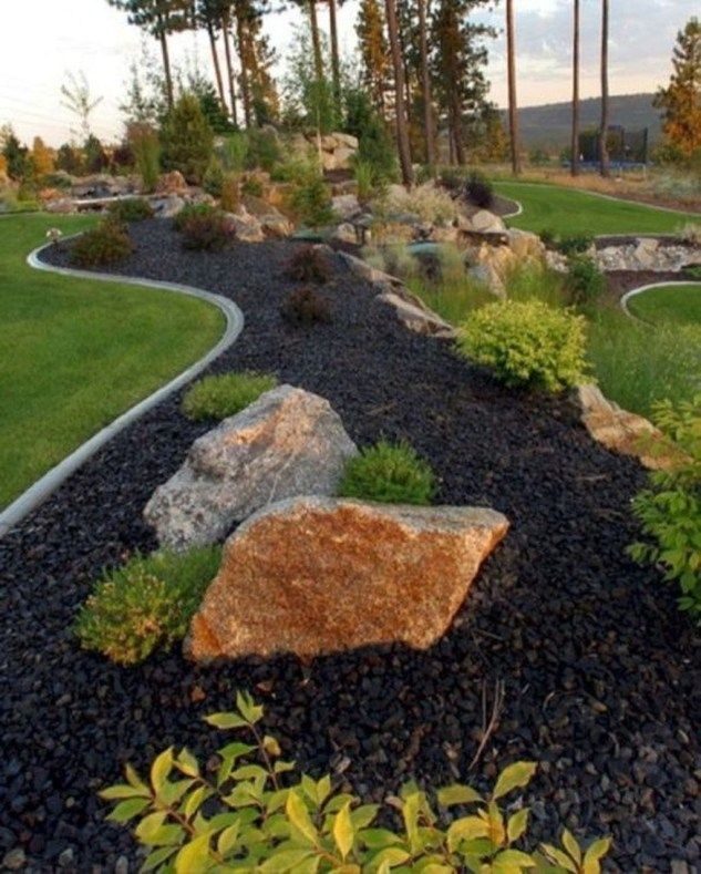 46 Awesome Front Yard Rock Garden Landscaping Ideas With Images
