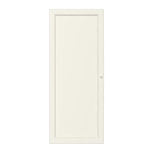 IKEA - OXBERG, Door, white, , Adjustable hinges allow you to adjust the door horizontally and vertically.Behind the panel doors you can keep your belongings hidden and free from dust.