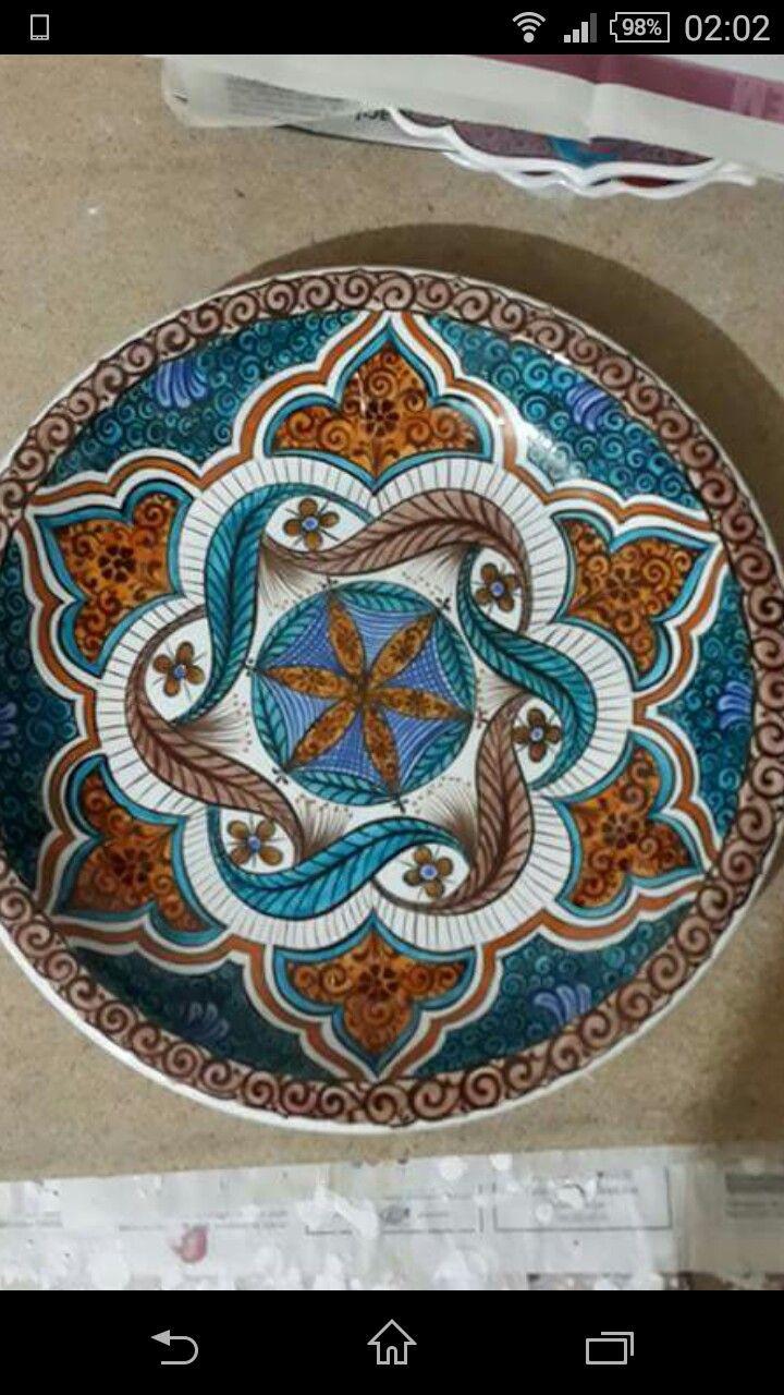 Turkish Design Ceramic Plates Ceramic Art Arabesque