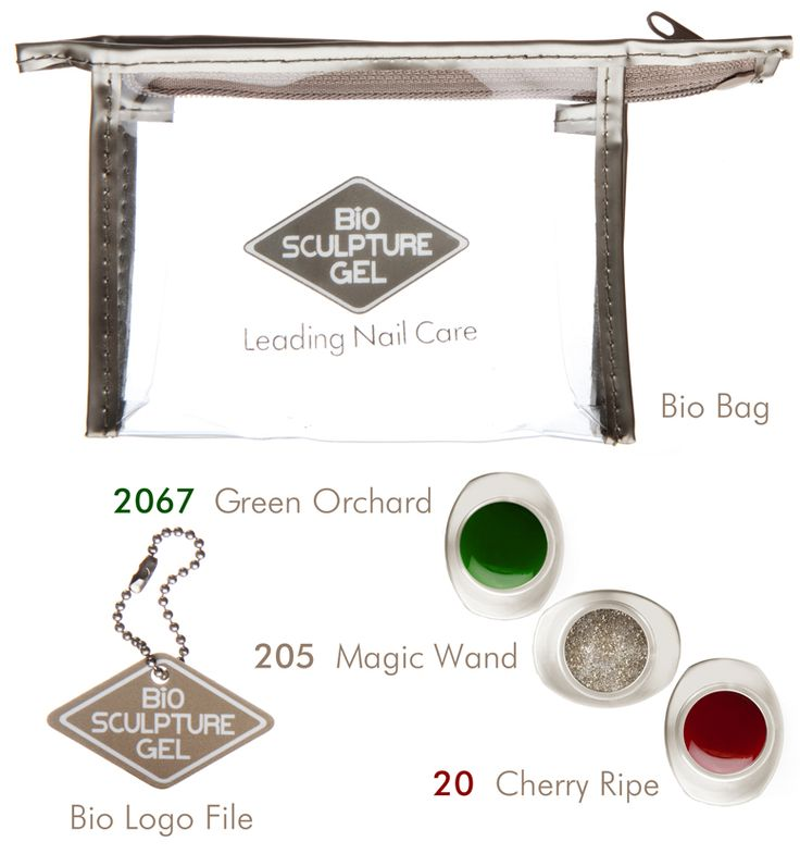 Special pack includes the following: Bio Logo File, Limited Edition Magic Wand gel, Cherry Ripe Gel, Green Orchard Gel inside a Bio Bag <3