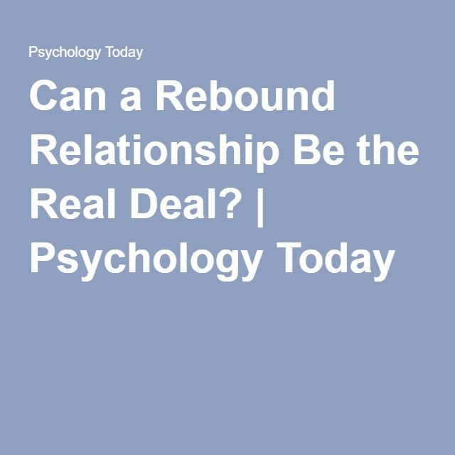 on the rebound relationship advice