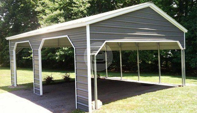 18x41 Vertical Style Rv Carport Steel Rv Cover For Sale In 2020 Metal Building Prices Prefab Metal Buildings Garage Door Design
