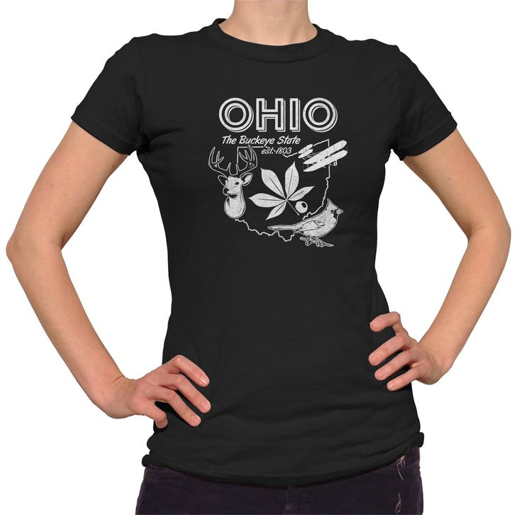 Women's Vintage Ohio State T-Shirt - Juniors Fit