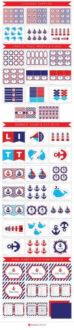 Invitación náutica de Baby Shower invitación por DellaGlobal