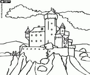 Omalovánka Jeden z hradů pohádek
