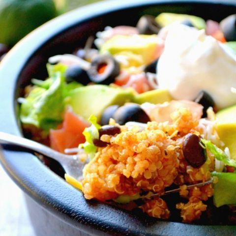Quinoa Taco Bowls - a delicious, family friendly quinoa recipe!