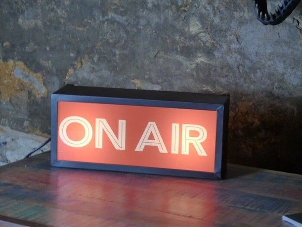 On air light for capturing that vintage retro feeling on your walls, at home our at your recoding studio, cafe, bar retro bric-a-brac, retro gifts at Smithers