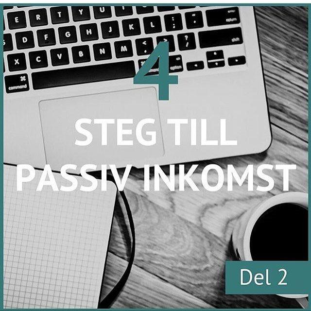 Del 2 av 4 om passiv inkomst hittar du idag hos @dinomitelinnea  Imorgon kl 12 är det webinar ett av två! Du hittar webinaret på http://ift.tt/2iFBAtT och eventet för dagen.