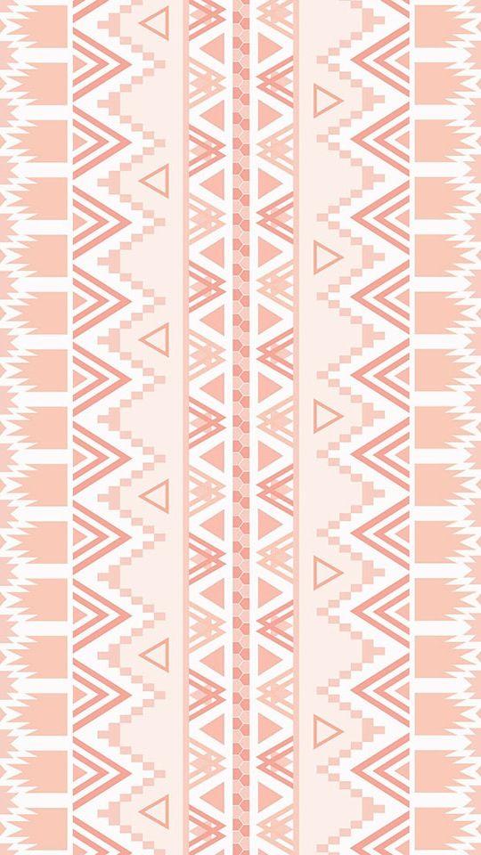 Blush pink coral aztec tribal Navajo  iphone wallpaper background phone lock screen