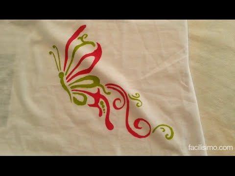 Cómo pintar una camiseta con plantilla   facilisimo.com - YouTube