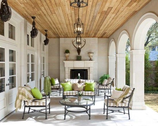 There isn't much I don't like about this space! Elegant, grand, warm and spacious. The only thing I'd do differently is the floor. I'd use stone tile (several options available) in varying sizes.