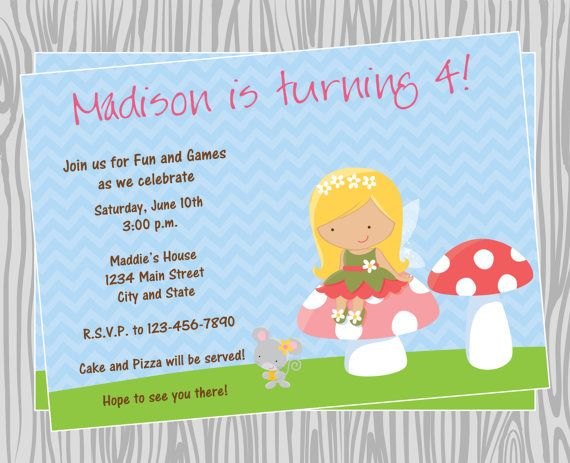 items similar to diy girl little fairy birthday party invitation items available on etsy
