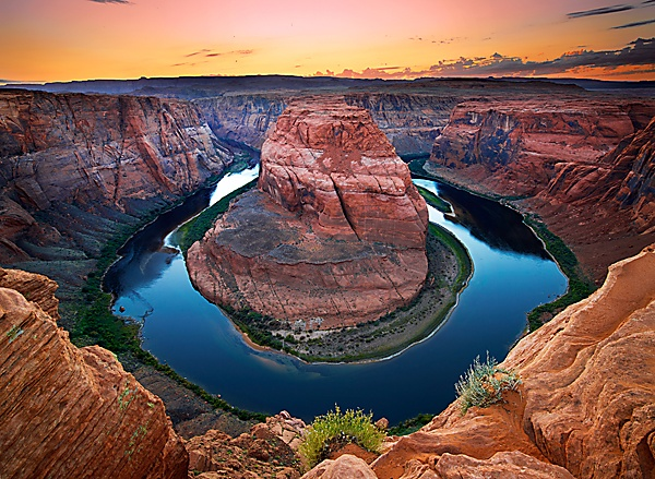 Horseshoe Bend is the name for a horseshoe-shaped meander of the Colorado River, located near the town of Page, Arizona, in the United States.