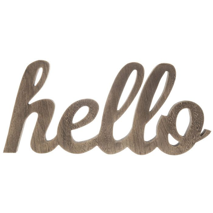 Chunky Wood Hello Sign