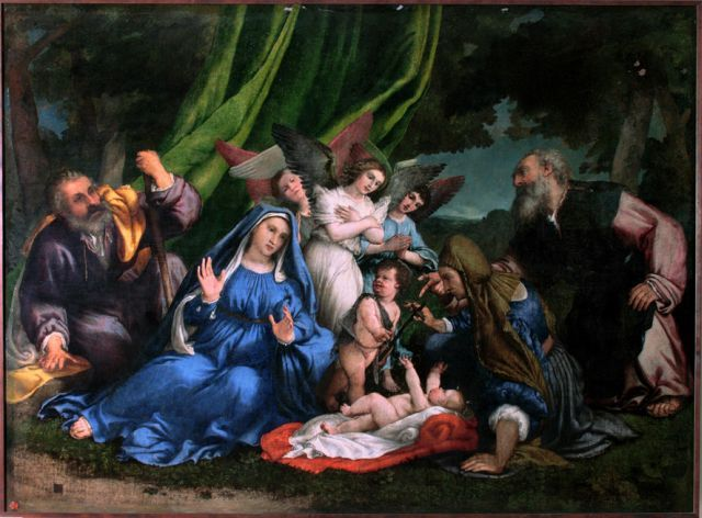 Adoration of the Christ Child / L'adorazione del Bambino / La Adoración del Divino Niño Jesús // Lorenzo Lotto // Museo - Antico Tesoro della Santa Casa / Santuario della Santa Casa di Loreto // #Christmas #Navidad  #Natale #Noël