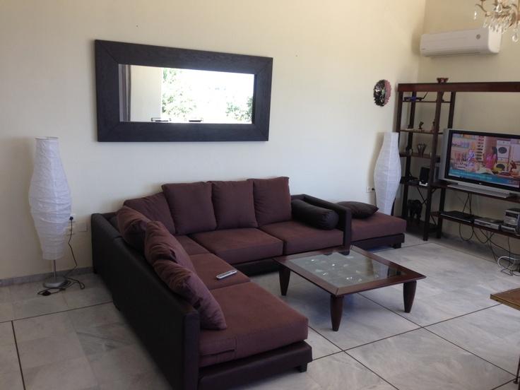 Villa Lucia's comfortable  indoors seating area!     http://villa-lucia.gr/
