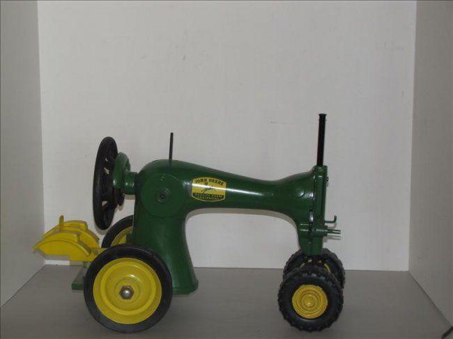 503: Custom Made John Deere Singer Tractor : Lot 503